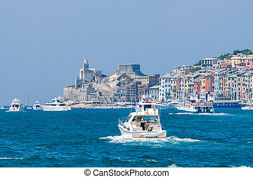 Portovenere Old seaside town - Medieval colorful houses in...