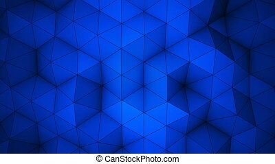 Blue triangle polygons background loopable - Blue triangle...