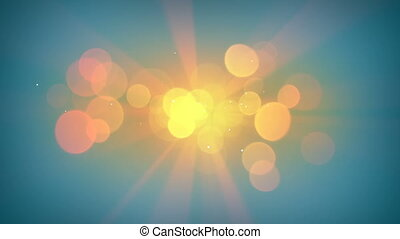 Sunshine and lens flares loopable animation