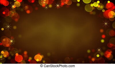 Frame of glowing blurry lights Seamless loop background -...