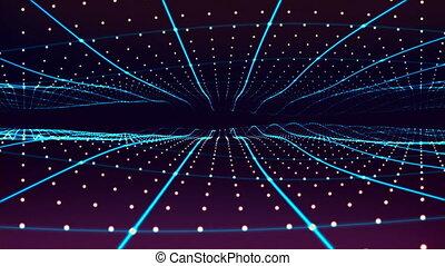 Flying through stars. 3D rendering. - Flying through stars...