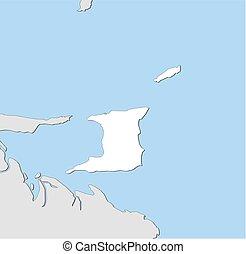 Map - Trinidad and Tobago - Map of Trinidad and Tobago and...