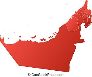 Map - United Arab Emirates - Map of United Arab Emirates...