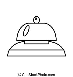 Call at reception icon, outline style - Call at reception...