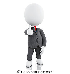 3d business people with thumbs up