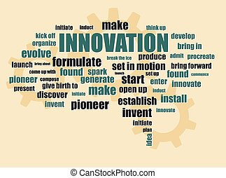 innovation new idea concept words abstract vector...