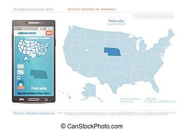 nebraska - United States of America maps and Nebraska state...