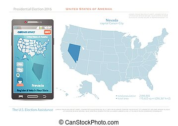 nevada - United States of America maps and Nevada state...