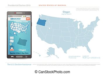 oregon - United States of America maps and Oregon state...