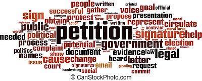 Petition-horizon.eps - Petition word cloud concept. Vector...