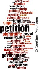 Petition-verticaleps - Petition word cloud concept Vector...