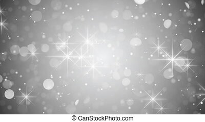 silver bokeh and sparkles loop