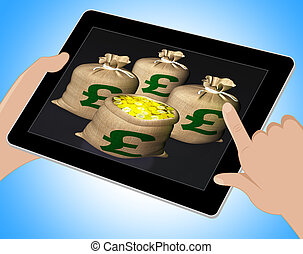 Bag Of Coins Shows British Savings Tablet