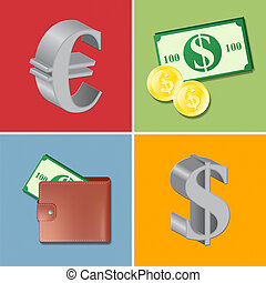 Currency Icons Shows Forex Trading And Fx - Currency Icons...