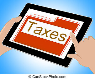 Taxes File Represents Excise Irs And Organization Tablet -...