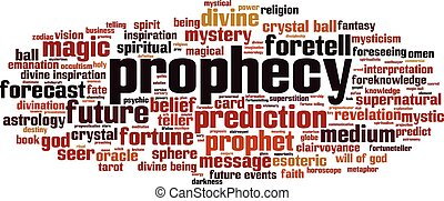 Prophecy-horizoneps - Prophecy word cloud concept Vector...