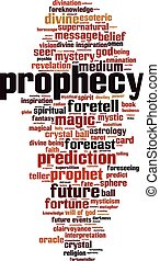 Prophecy-verticaleps - Prophecy word cloud concept Vector...