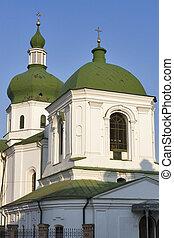 The Church of St. Nicholas Prytysk in Kiev, Ukraine. - The...