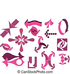 A vector set of pink useful arrows-2
