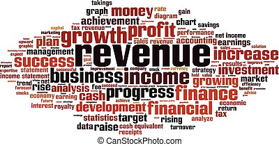 Revenue-horizon.eps - Revenue word cloud concept. Vector...