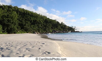 Tropical beach of Anse Georgette, Seychelles - Tropical...