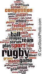 Rugby-verticaleps - Rugby word cloud concept Vector...