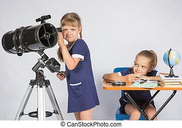 telescópio, dela, did, transtorne, mocking, ver, outro, não,...