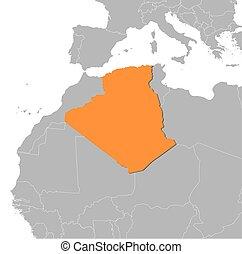 Map - Algeria - Map of Algeria and nearby countries, Algeria...