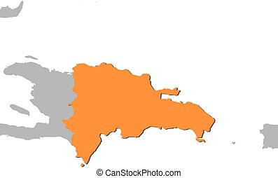 Map - Dominican Republic - Map of Dominican Republic and...