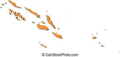 Map - Solomon Islands - Map of Solomon Islands, filled in...