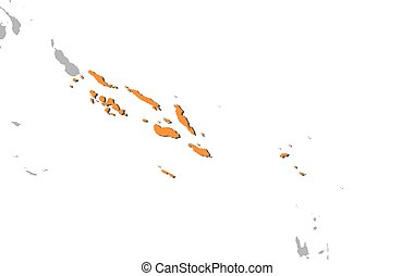 Map - Solomon Islands - Map of Solomon Islands and nearby...