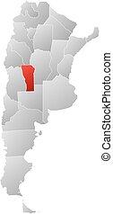 Map - Argentina, San Luis