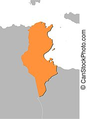Map - Tunisia - Map of Tunisia and nearby countries, Tunisia...