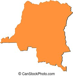 Map - Democratic Republic of the Congo