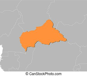 Map - Central African Republic - Map of Central African...