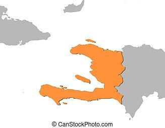 Map - Haiti - Map of Haiti and nearby countries, Haiti is...
