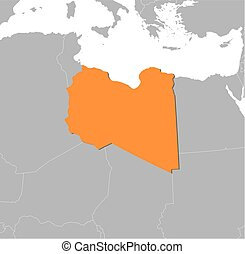 Map - Libya - Map of Libya and nearby countries, Libya is...
