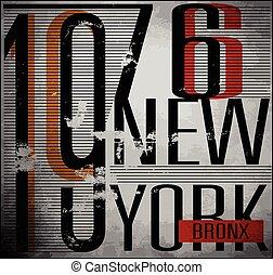 College New York typography, t-shirt graphics, vectors