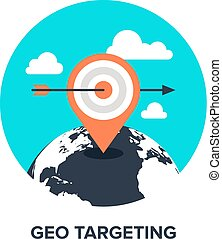 geo targeting flat concept - Vector illustration of geo...