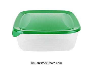 plástico, contenedor, para, alimento