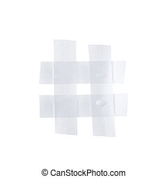 Hashtag symbol made of insulating tape - Hashtag number...