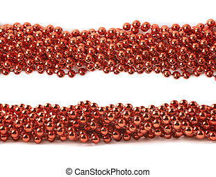 Line of beads garland thread isolated