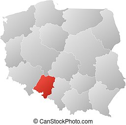 Map - Poland, Opolskie