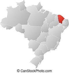 Map - Brazil, Ceara