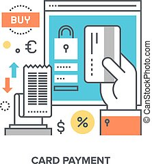 card payment concept - Vector illustration of card payment...