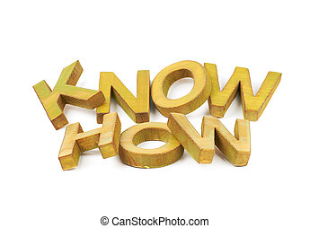 Words made of wooden letters isolated - Words Know How made...