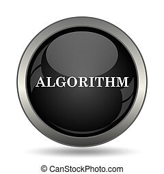 Algorithm icon. Internet button on white background.