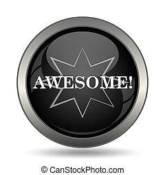 Awesome icon Internet button on white background