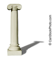 Greek marble column - Greek Ionian style marble column...