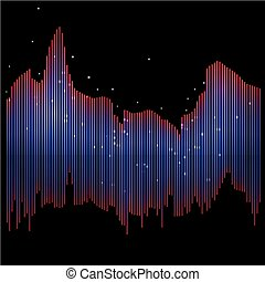 Data flow vector background - Data flow red and blue vector...